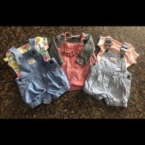 Carters Baby Overalls Lot